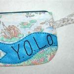 Y.O.L.O. wristlet w/frogs, $26
