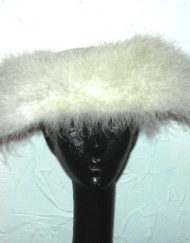 Vintage Evelyn Varon marabou feather hat
