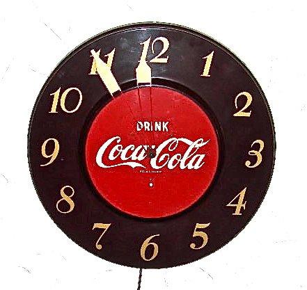 1952 Coca Cola electric wall clock – NVISION   Cincinnati Handmade ...