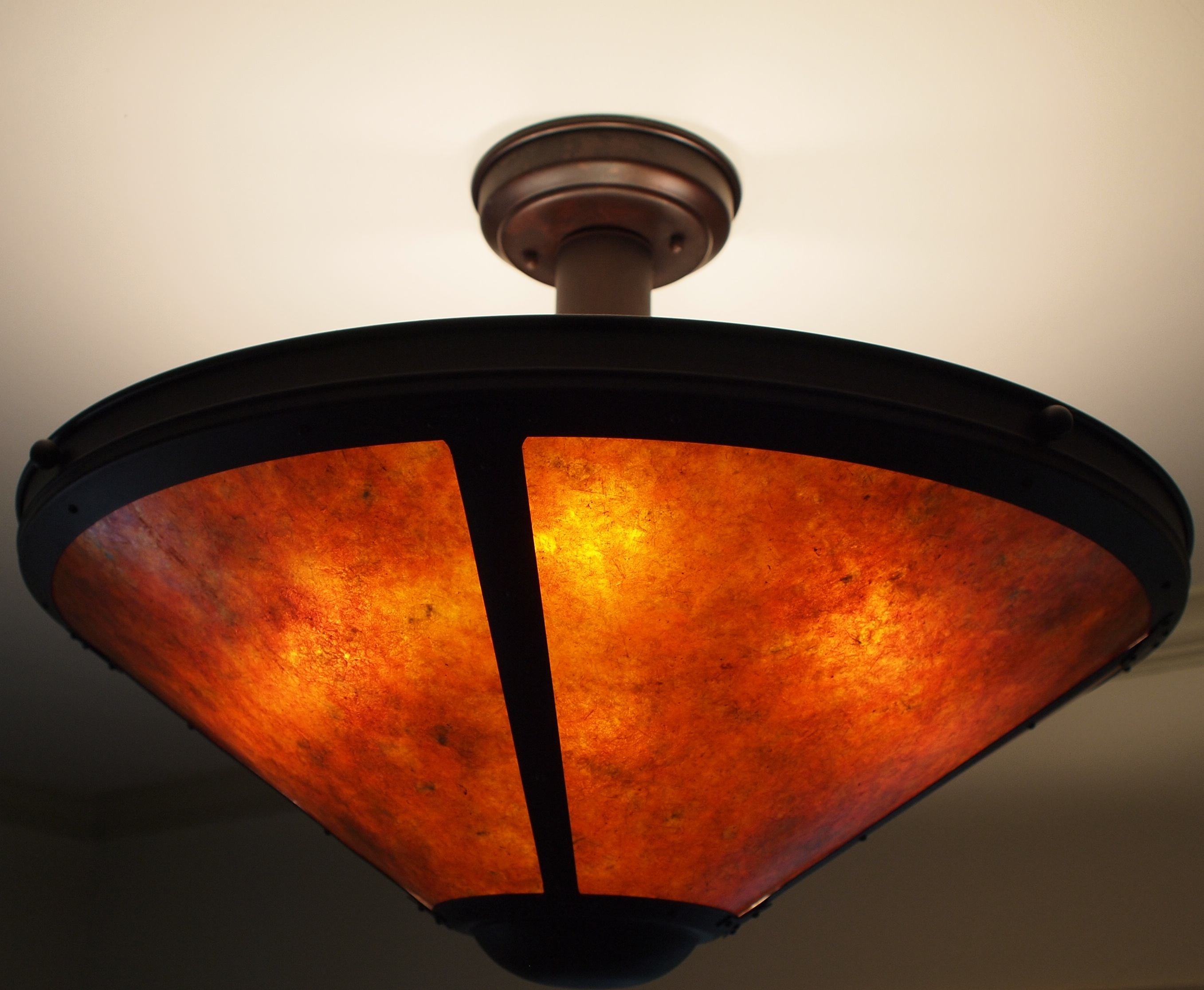 Mica Lamp Company chandelier, model #113, $1100