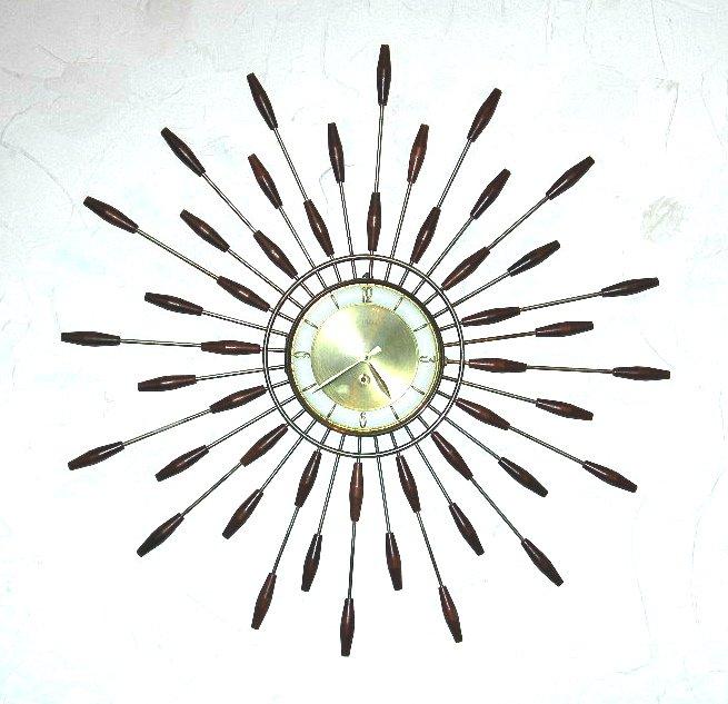 Vintage starburst wall clock NVISION Cincinnati Handmade