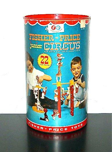 1963 Fisher-Price Junior Circus toys, complete set