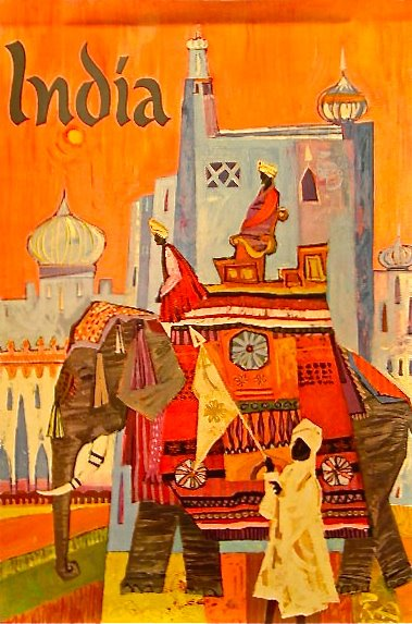 Vintage Travel Poster India Nvision Cincinnati