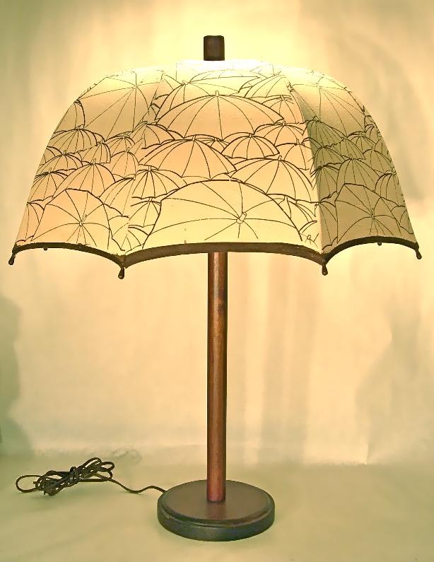 Vintage umbrella lamp, SOLD