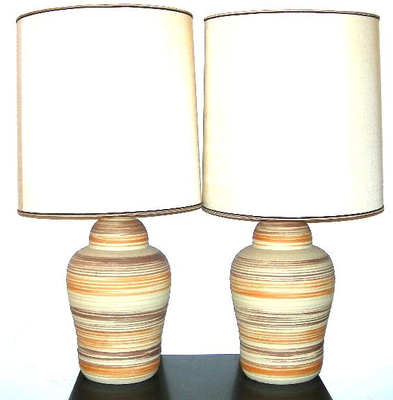 Desert stripe sandstone lamps, SOLD