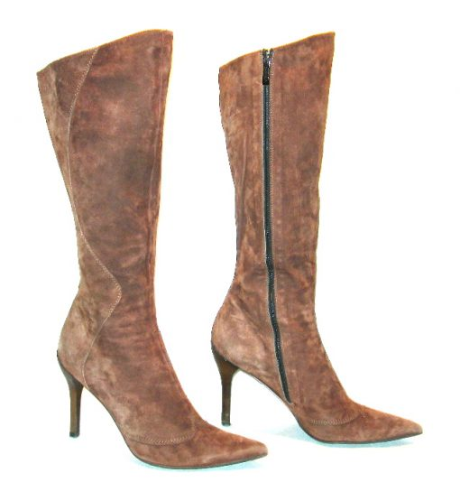 R & Renzi brown suede boots