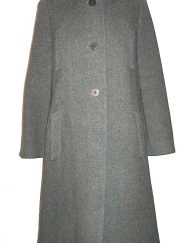 Trigere coat grey wool