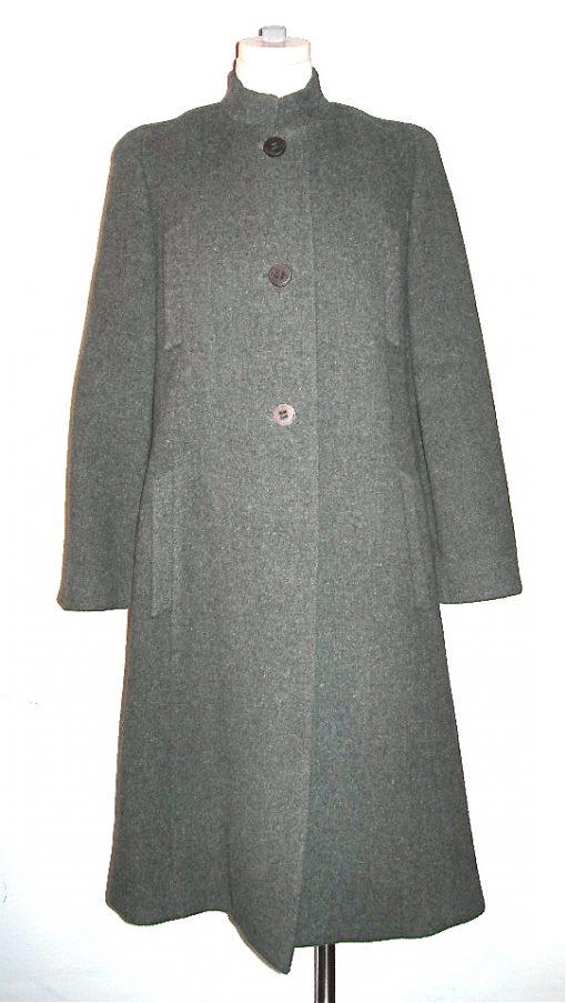 Trigere coat grey wool