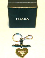 Prada heart keychain