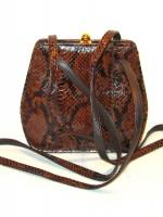 Vintage Bob Mackie snakeskin purse