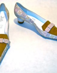 Emilio Pucci pastel print kitten heel loafers