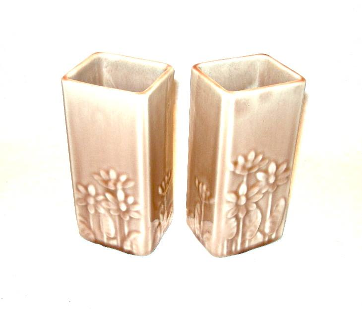 Pair Of 1958 Rookwood Pottery Vases Marked Lviii 6434 Nvision
