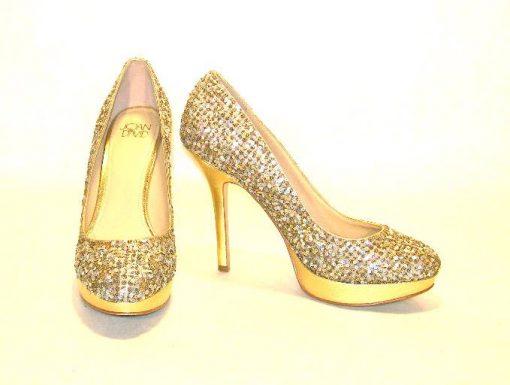 Joan & David sequined platform heels