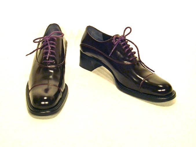 Prada dark brown leather Oxfords