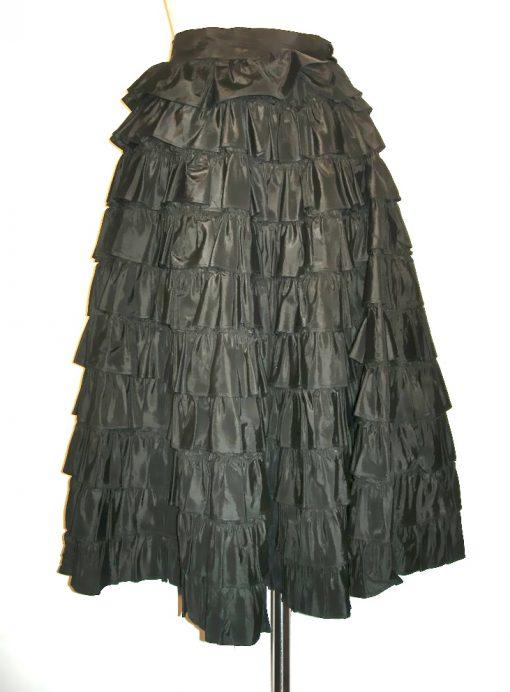 Vintage tiered ruffle full skirt