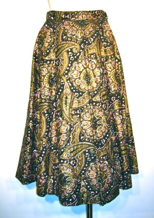 Vintage paisley sequined skirt