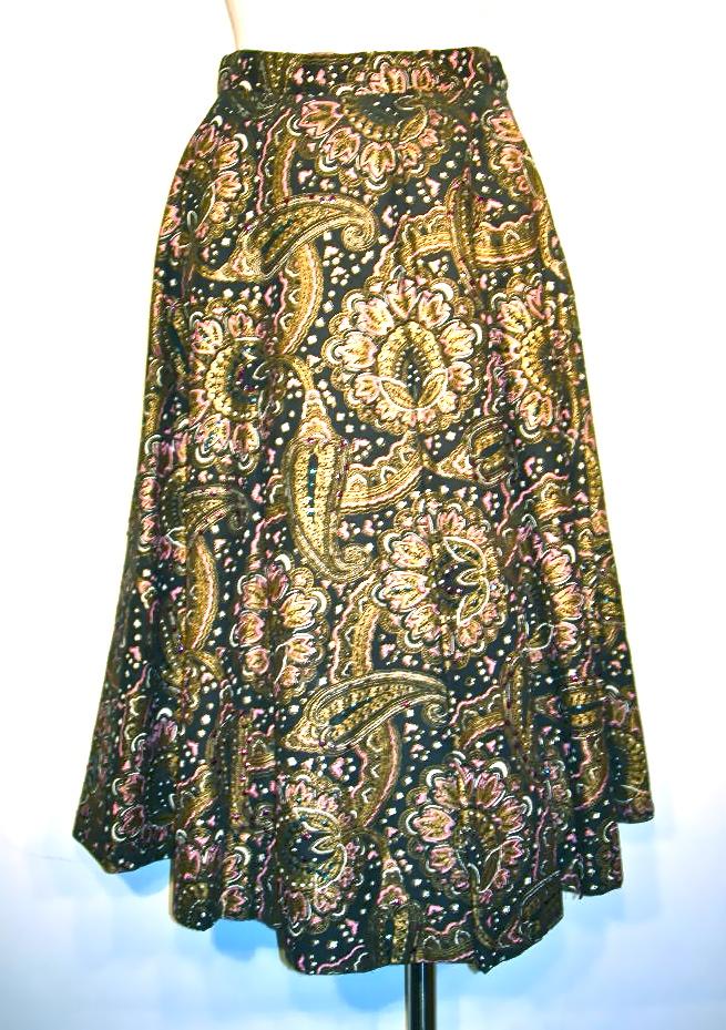 vintage paisley sequined skirt nvision cincinnati