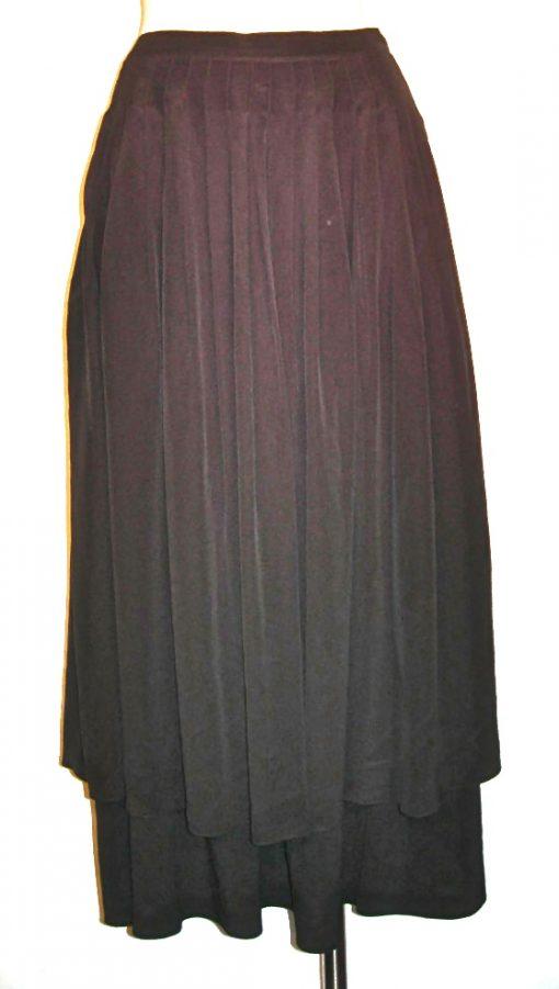 Vintage Bernard Perris black silk skirt