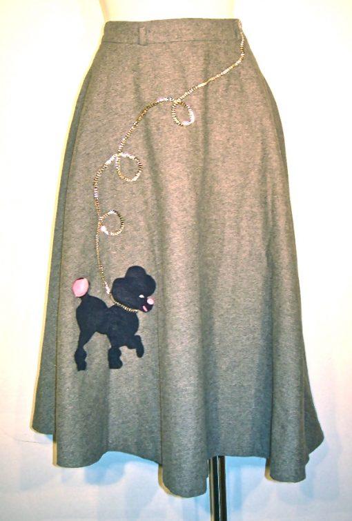 Vintage wool poodle skirt