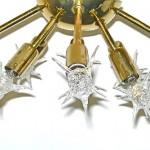 Vintage brass sputnik ceiling fixture, 8 arms, SOLD