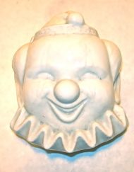 Vintage ceramic clown face lidded box