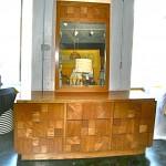 Vintage Paul Evans style Lane Furniture style dresser & mirror, SOLD