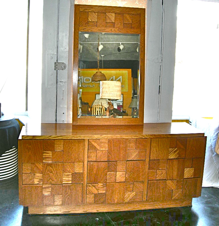 Wonderful Vintage Paul Evans Style Lane Furniture Style Dresser U0026 Mirror, ...