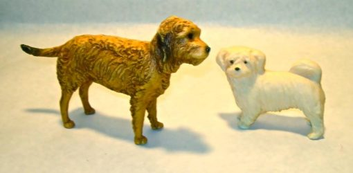 1977 Breyer Benji and Tiffany dog figures