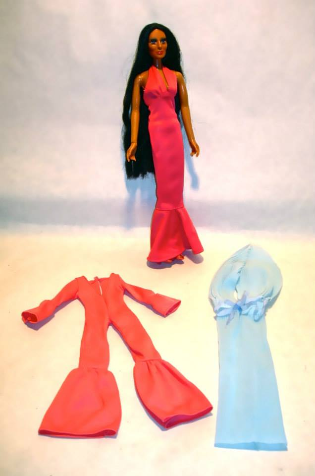 Vintage Cher doll with 3 outfits