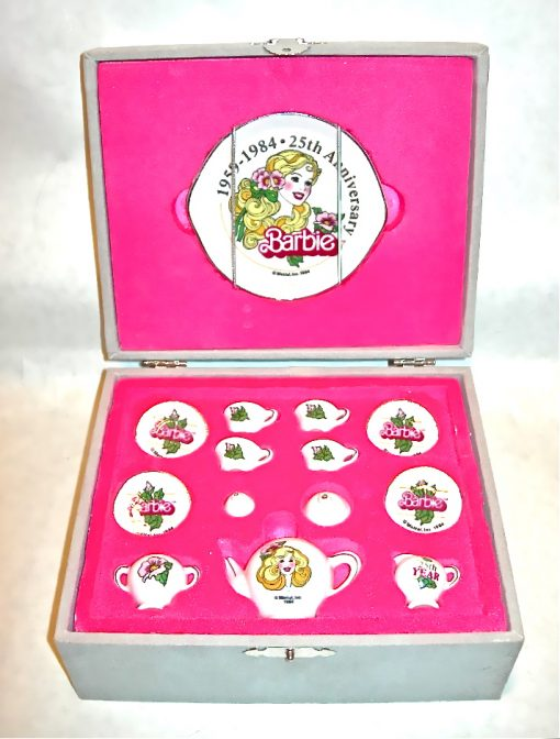 1984 Barbie 25th Anniversary Tea Set