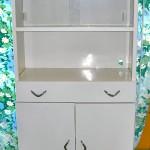 Vintage metal china cabinet, $120
