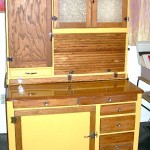 Vintage Hoosier cabinet with multi-functionality, $900