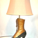 Vintage granny boot lamp-- yes, it's a real boot, $45