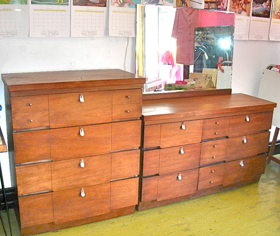 Mid Century Modern 4 Piece Bedroom Set Nvision