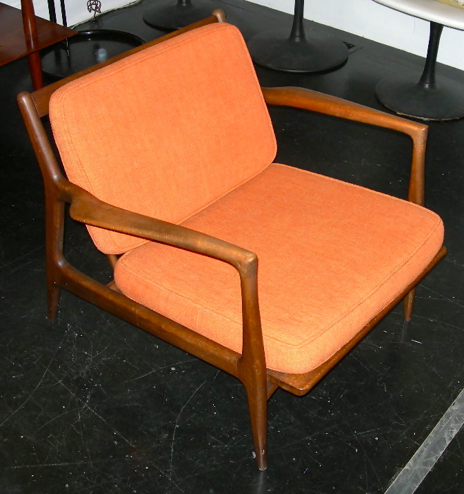 Kofod-Larsen for Selig Danish modern lounge chair, SOLD