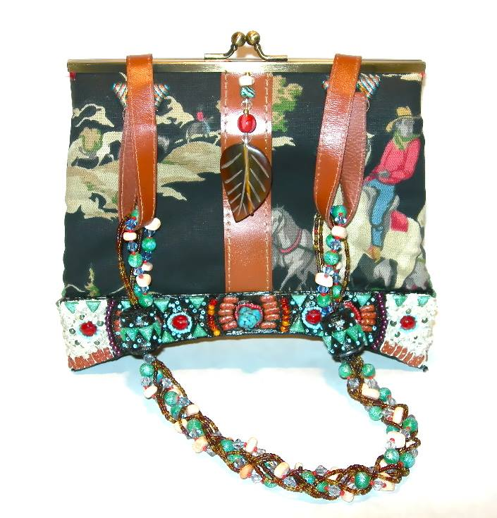 Mary Frances Cowboys Amp Indians Cloth Purse With Heavily