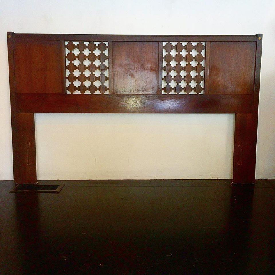 1966 Lane Furniture full-size bed frame, $150