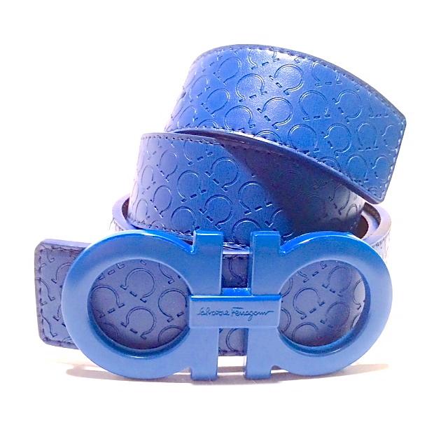 Salvatore Ferragamo Reversible Leather Belt With Original