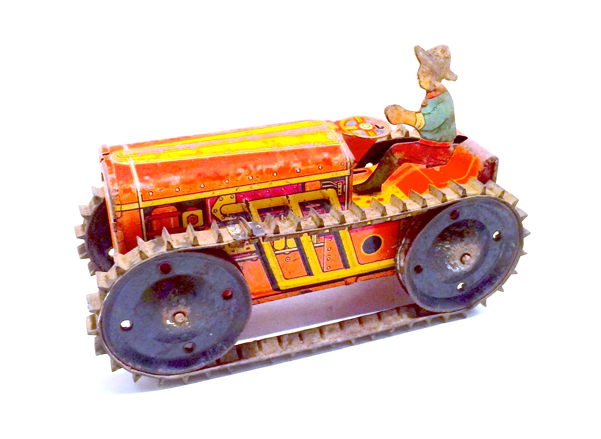 Vintage Wind Up Tractor Toy From Mar Toys Nvision