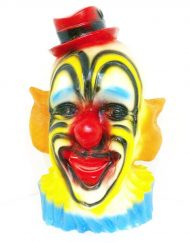 Vintage clown head piggy bank