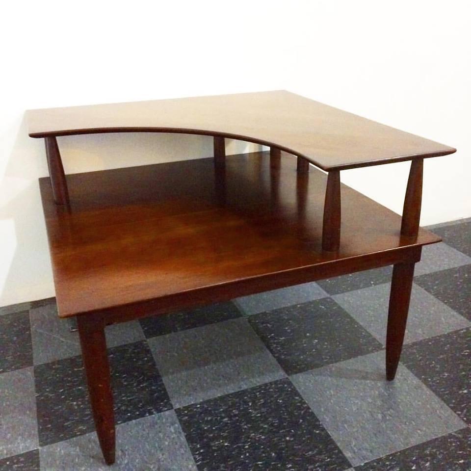 Vintage Willett cherry wood corner table, SOLD