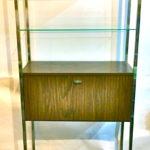 Vintage shelving w/bar cabinet, $150