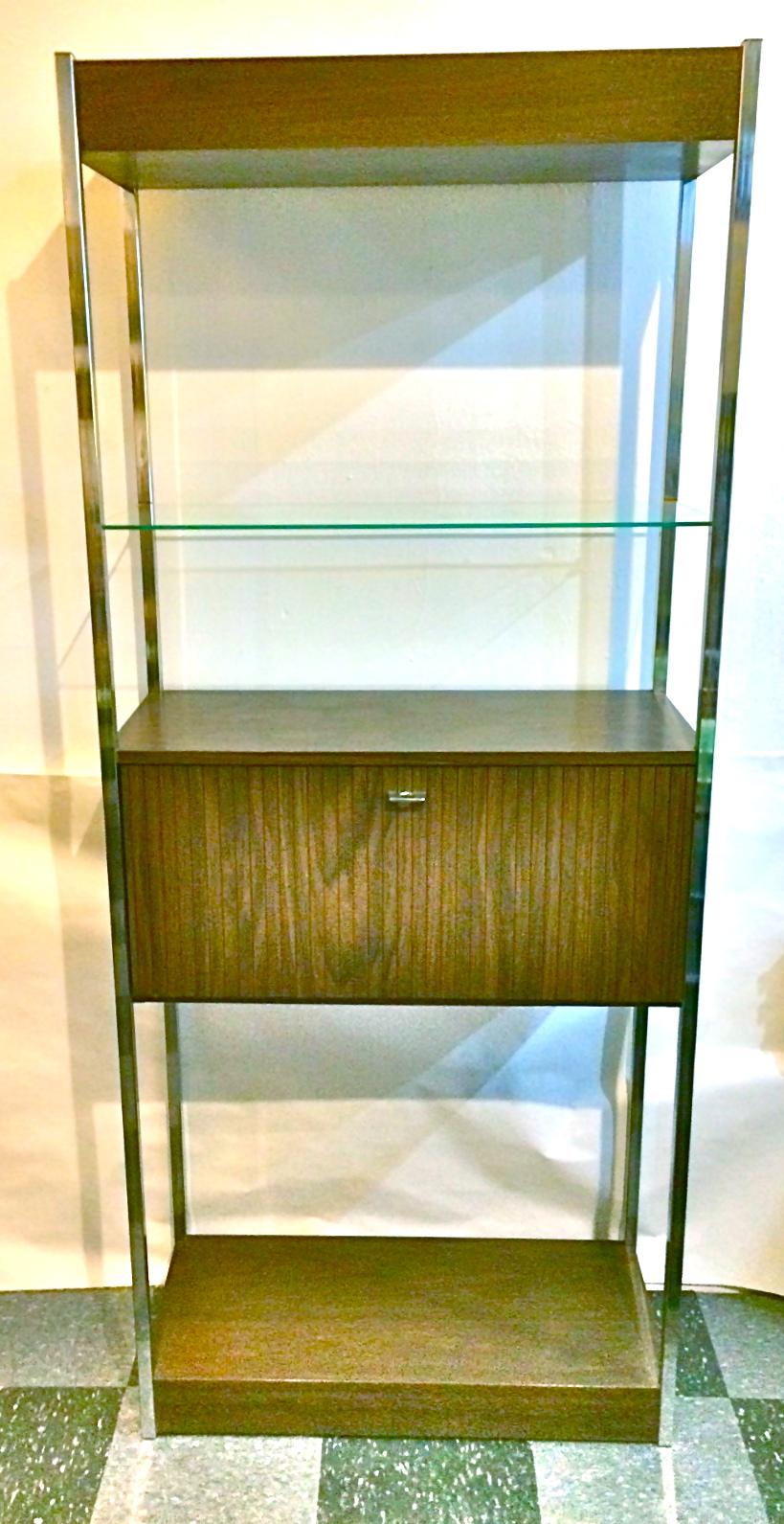 Vintage shelving w/bar cabinet, SOLD