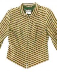 Salvatore Ferragamo striped suede jacket