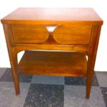 Vintage Kent Coffey Perspecta side table w/drawer, SOLD