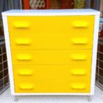 Vintage Broyhill Premier Chapter One upright dresser, in the style of Raymond Loewy, SOLD