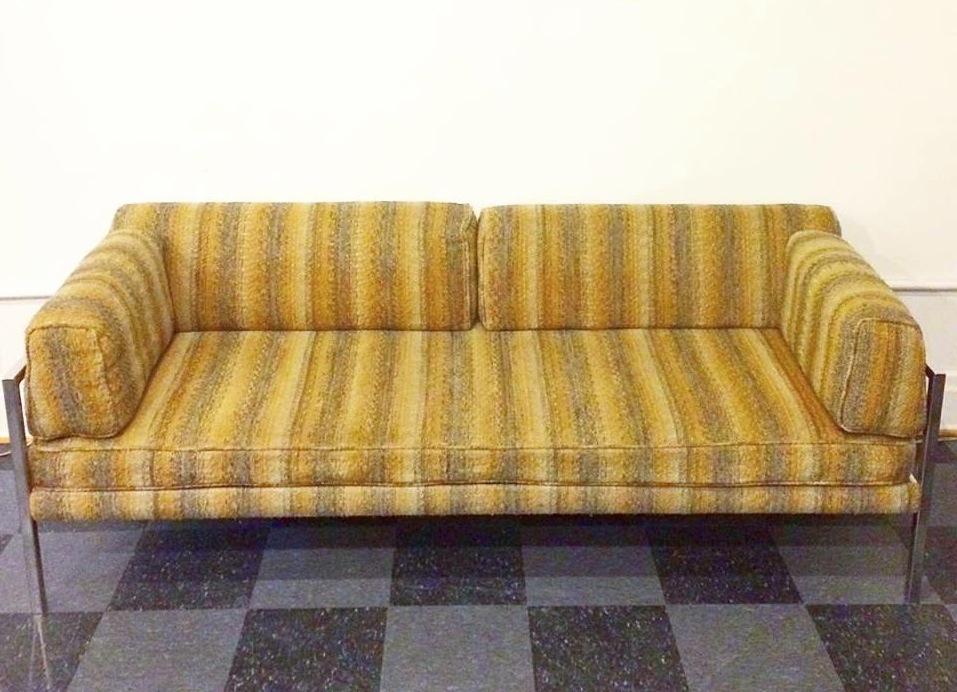 Vintage chrome frame sofa, SOLD