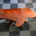 Slab wood coffee table with raw edges, $300