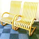 Pair of lounge chairs made with PVC decking material, SOLD