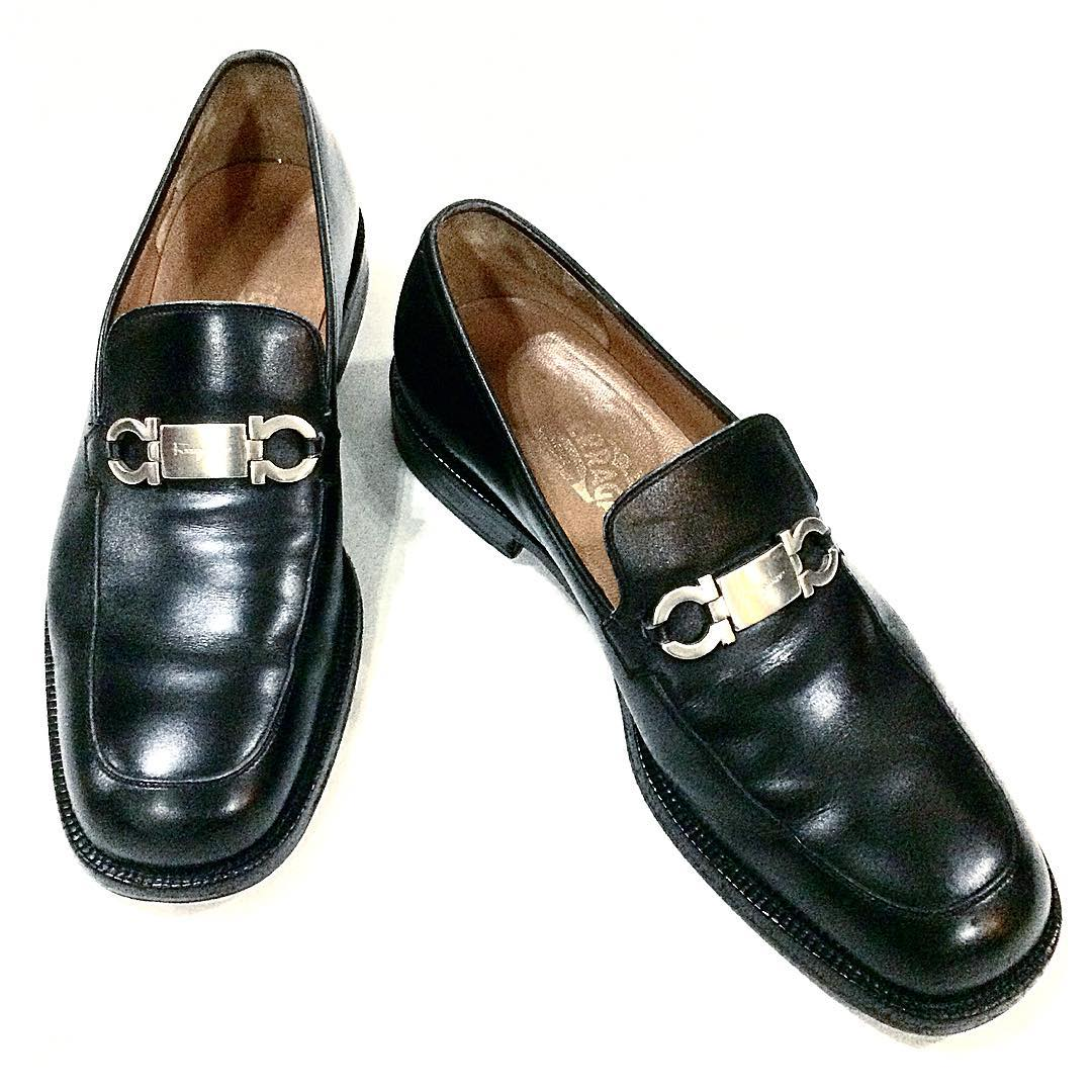 Salvatore Ferragamo black loafers with